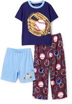 Komar Kids Blue Baseball Sleep Tee Shorts & Pants - Toddler & Boys
