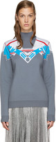 Peter Pilotto Grey Ski Knit Sweater