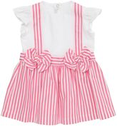 Il Gufo Cotton Jersey & Striped Oxford Dress