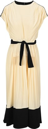 Proenza Schouler Gathered Belted Dress
