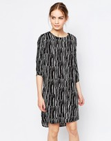 Just Female Swatch Dress In Noise Print