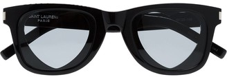 Saint Laurent Eyewear black Heart sunglasses