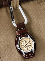 Dakota Woolrich Men's Leather Hanger Watch, BROWN