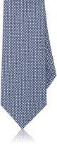 Isaia Men's Neat-Print Silk-Cotton Necktie