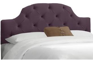 Red Barrel Studio Doyon Upholstered Panel Headboard Upholstery: Premier Purple, Size: Queen