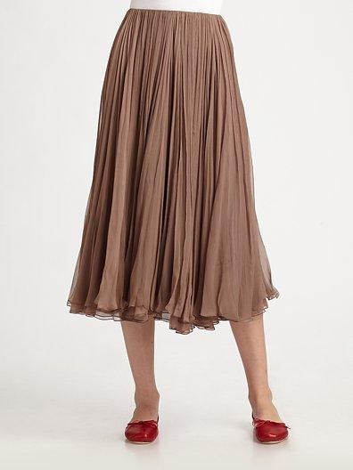Chloé Mouseline Pleated Skirt