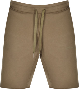 True Religion Reflective Logo Shorts Khaki