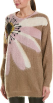 Valentino Floral Intarsia Mohair & Wool-Blend Sweater