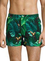 Onia El Toucan Cadler Printed Swim Trunks