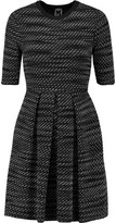 M Missoni Pleated Jacquard-Knit Mini Dress