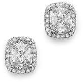Bloomingdale's Diamond Halo Pie Cut Stud Earrings in 14K White Gold, 1.0 ct. t.w. - 100% Exclusive