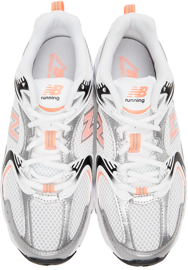 Thumbnail for your product : New Balance White & Pink 530 Sneakers