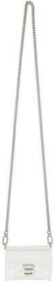 Balenciaga White Croc Mini Hourglass Wallet Bag