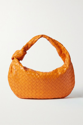 Bottega Veneta Jodie Small Knotted Intrecciato Leather Tote - Orange