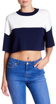 KENDALL + KYLIE Kendall & Kylie Short Sleeve Cropped Shirt