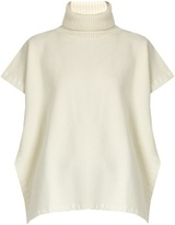 See by Chloe Roll-neck whipstich-edged wool poncho