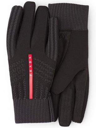 Prada Logo Knitted Gloves