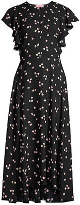 Kate Spade Ditsy Begonia Midi Dress