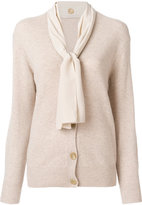 Joseph knitted cardigan with neck tie