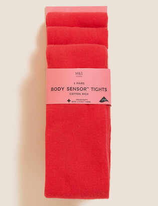 Marks and Spencer 3 Pack of Body Sensor School Tights (3-14 Yrs)