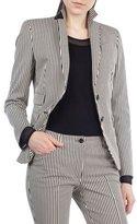 Akris Punto Striped Denim Two-Button Blazer