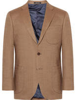 Noah Tan Slim-Fit Birdseye Wool Blazer