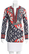 Tory Burch Silk Floral Print Tunic w/ Tags