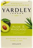 Yardley London Bar Soap, Botanical Aloe & Avocado, 4.25 Ounce