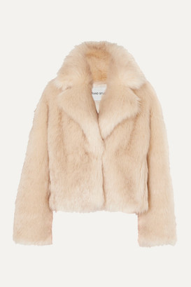 Stand Studio Pernille Teisbaek Janet Faux Fur Jacket - Neutral
