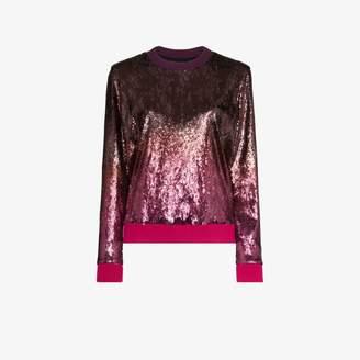 Mary Katrantzou magpie sequin ombre sweatshirt