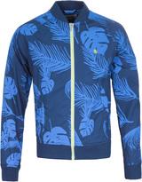 Penguin Dress Blues Palm Print Bomber Jacket