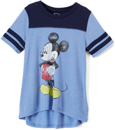 Jerry Leigh Mickey Mouse Blue Crosshatch Tee - Juniors