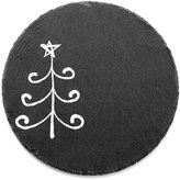 Jay Imports Merry and Bright Curly Tree Round Slate Trivet, Created for Macy's