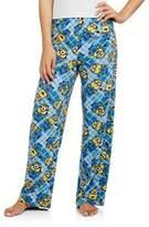 Briefly Stated Women's Minion Micro Fleece Pajama Sleep Pants Small 4-6