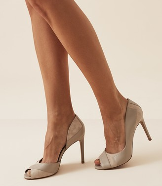 Reiss Pisa - Open Toe Court Shoes in Neutral