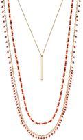 Chaps Stick Pendant & Beaded Necklace Set