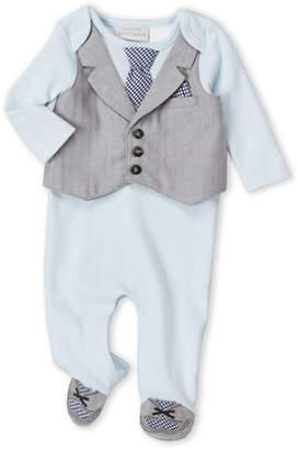 Koala Baby Newborn Boys) Light Blue Vested Footie