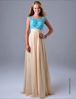 Nina Canacci - 1086 Dress in Baby Blue/Nude