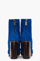 Christopher Kane Blue Suede Brogue Boots