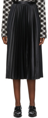 Junya Watanabe Black Plisse Midi Skirt