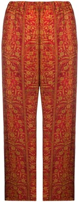 UMA WANG floral-print pull-on trousers