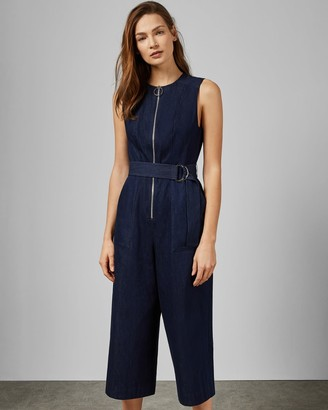 Ted Baker Denim Zip Front Jumpsuit