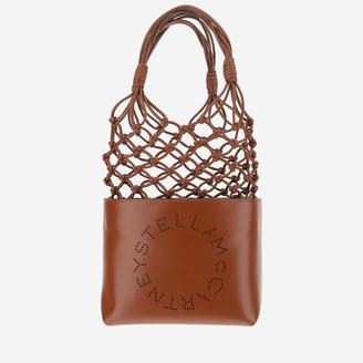 Stella McCartney Logo Braided Top Handle Bag