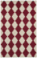 Tribeca Flatweave Red Wordly Wool Rug (3'6 x 5'6)