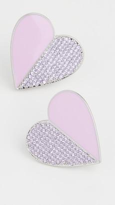 For Love & Lemons Dahlia Heart Earrings