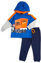 Nannette Baby Boys Fox Truck Hoodie and Pants