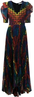 Alice + Olivia Haven pleated maxi dress