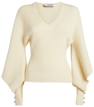 Lanvin Wool-Cashmere Ribbed Sweater