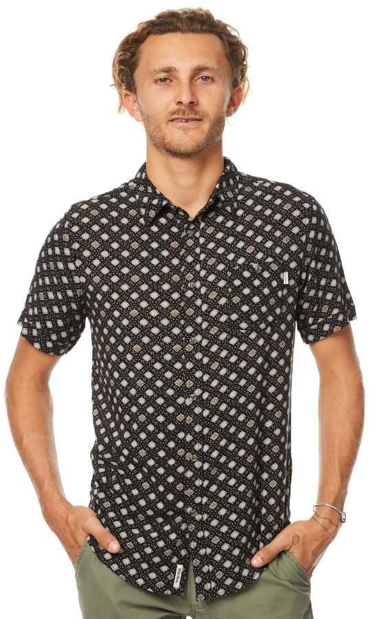 rhythm Cascais Ss Mens Shirt Black