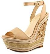 Jessica Simpson Ameka Open Toe Synthetic Wedge Heel.